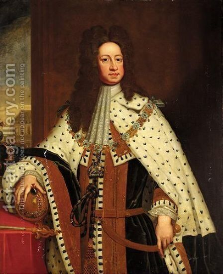 State Portrait Of George I by (after) Kneller, Sir Godfrey - Reproduction Oil Painting
