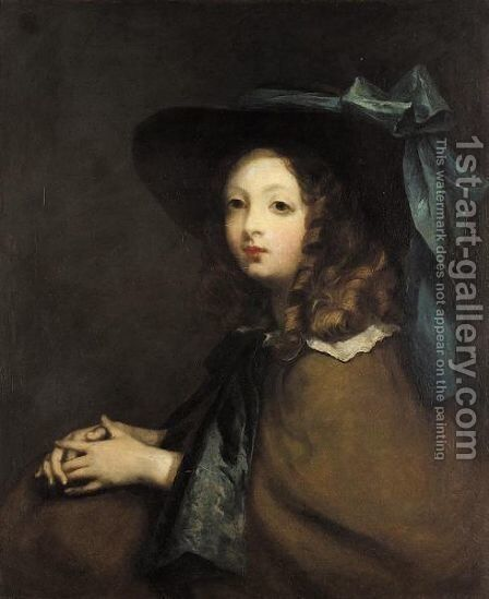 Portrait Of A Young Girl by (after) John Opie - Reproduction Oil Painting
