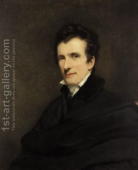 Portrait Of Antonio Canova by (after) Jackson, John - Reproduction Oil Painting