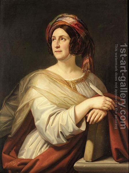Portrait Of A Lady by (after) Thomas Phillips - Reproduction Oil Painting
