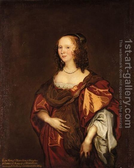 Portrait Of Lady Margaret Hamilton, 2nd Daughter Of James, 2nd Marquis Of Hamilton by (after) Dyck, Sir Anthony van - Reproduction Oil Painting