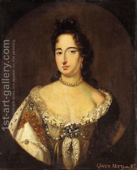 Portrait Of Queen Mary II by (after) Kneller, Sir Godfrey - Reproduction Oil Painting