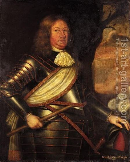 Portrait Of David, 2nd Earl Of Wemyss (1610-1679) by (after) David Scougall - Reproduction Oil Painting