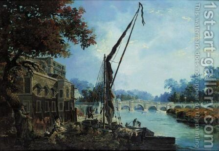 The Thames At Richmond by James Miller - Reproduction Oil Painting
