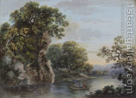 Landscape with a boat by (after) John Inigo Richards - Reproduction Oil Painting