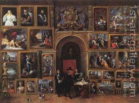 Archduke Leopold Wilhelm of Austria in his Gallery 1651 by David The Younger Teniers - Reproduction Oil Painting
