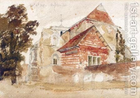 A red house by (after) Peter De Wint - Reproduction Oil Painting