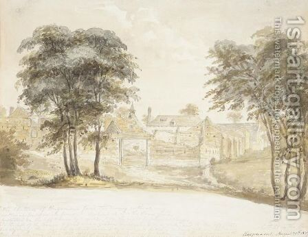 The Chateau Of Hougoumont At Waterloo by Henry Edridge - Reproduction Oil Painting