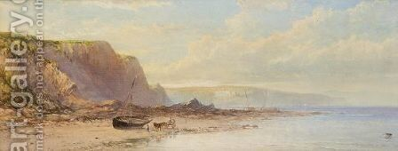 At The Mumbles, South Wales by James George Philp - Reproduction Oil Painting