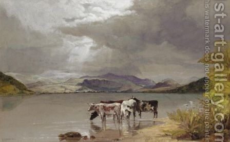 Bassenthwaite Water, Cumberland by Edward Duncan - Reproduction Oil Painting