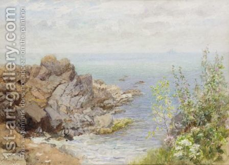 The Headland, Coverack by Arthur Hopkins - Reproduction Oil Painting