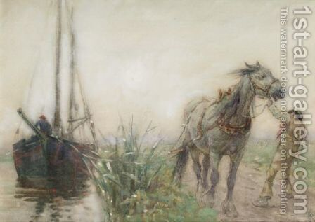 The Tow Path by Nathaniel Hughes John Baird - Reproduction Oil Painting