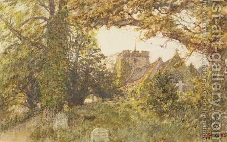 A Country Church by Henry R. Robinson - Reproduction Oil Painting