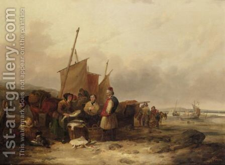Bargaining For Fish by (after) William Joseph Shayer - Reproduction Oil Painting