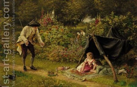 Father's Return by (after) Alfred Walter Bayes - Reproduction Oil Painting