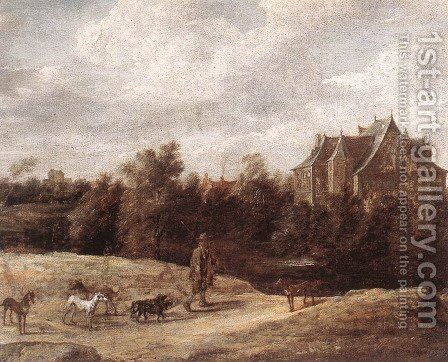 Return From The Hunt 1670 by David The Younger Teniers - Reproduction Oil Painting
