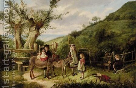 Playtime by Charles Hunt - Reproduction Oil Painting