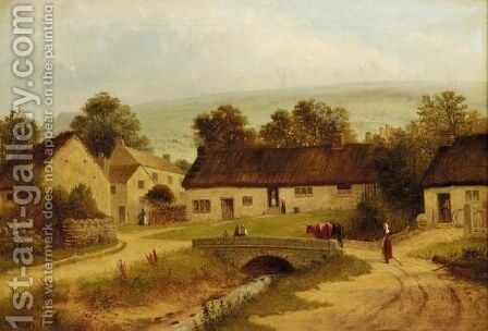 Old Ilkley by Edward C. Booth - Reproduction Oil Painting