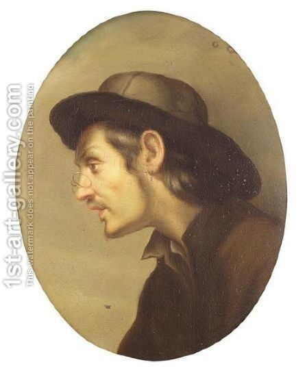 Portrait Of A Man by Italian School - Reproduction Oil Painting