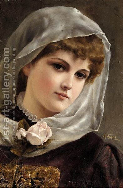Portrait Of A Girl by Alfred Seifert - Reproduction Oil Painting