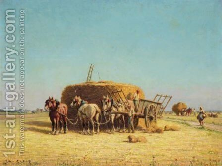 Harvesting by Charles Clair - Reproduction Oil Painting