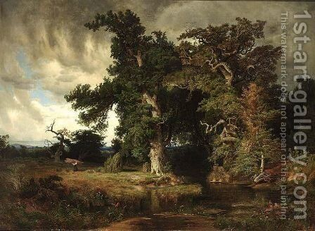 Before The Storm by (after) August Wilhelm Leu - Reproduction Oil Painting