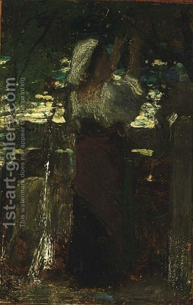 Italienne 2 by Jacob Henricus Maris - Reproduction Oil Painting