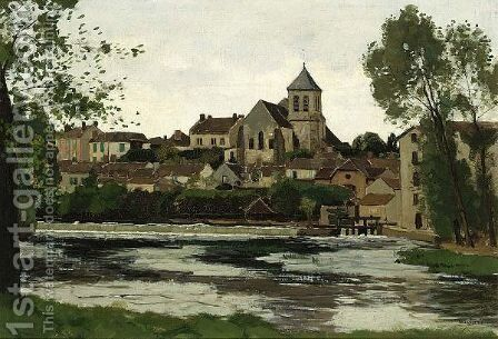 A View Of A Town, Possibly Deventer by Derk Wiggers - Reproduction Oil Painting