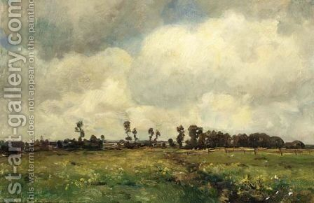 A Landscape In The Late Summertime by Jan Hillebrand Wijsmuller - Reproduction Oil Painting