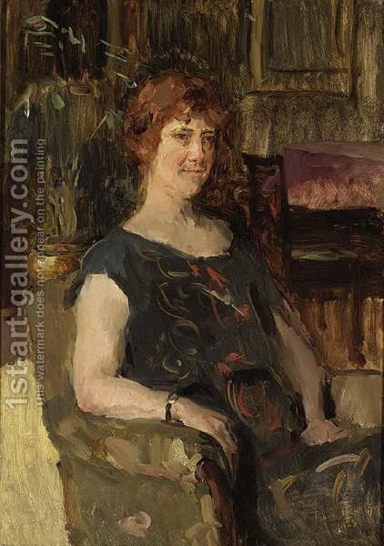 A Lady Seated by Isaac Israels - Reproduction Oil Painting