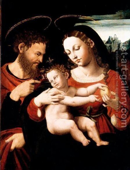 The Holy Family by (after) Vicente Juan (Juan De Juanes) Macip - Reproduction Oil Painting