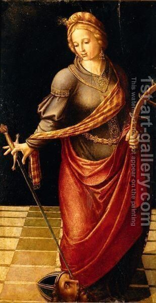 Saint Catherine by Martin  The Elder Gomez - Reproduction Oil Painting