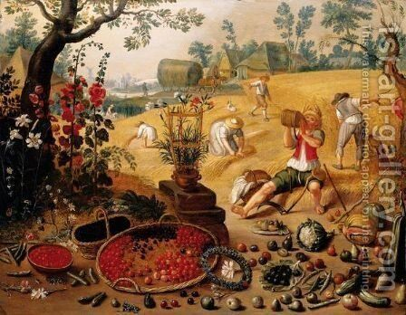 Allegory Of Summer by (after) Sebastiaen Vrancx - Reproduction Oil Painting