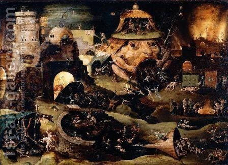 Christ's Descent Into Limbo by (after) Hieronymus Bosch - Reproduction Oil Painting