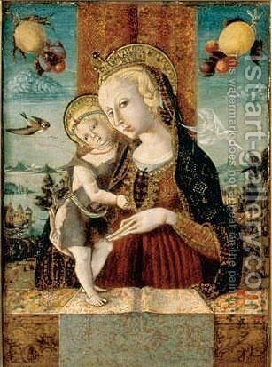 The Madonna And Child With A Goldfinch by Swiss Unknown Master - Reproduction Oil Painting