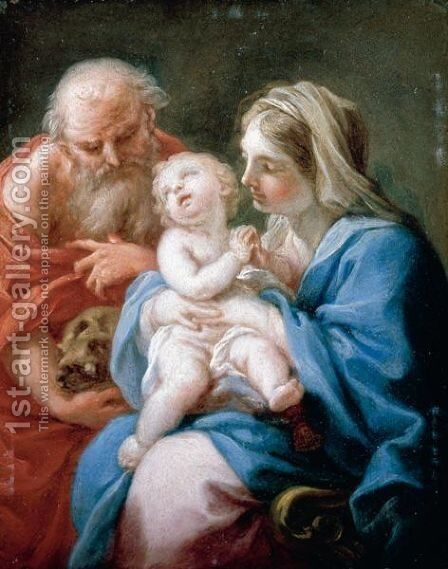 The Holy Family by (after) Sebastiano Conca - Reproduction Oil Painting