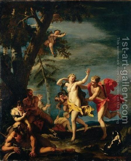 Apollo And Daphne by (after) Sebastiano Ricci - Reproduction Oil Painting