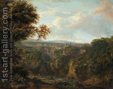 A View Of Tivoli by (after) Jan Frans Van Orizzonte (see Bloemen) - Reproduction Oil Painting