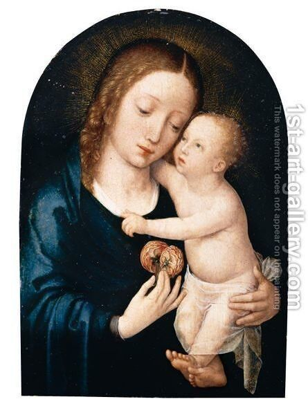 The Virgin And Child 2 by (after) Gerard David - Reproduction Oil Painting