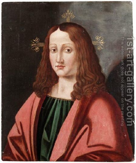 The Head Of A Saint by (after) Leonardo Da Vinci - Reproduction Oil Painting