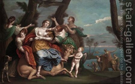 The Rape Of Europa by (after) Paolo Veronese (Caliari) - Reproduction Oil Painting