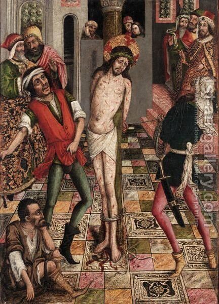 The Flagellation Of Christ by Italian Unknown Master - Reproduction Oil Painting