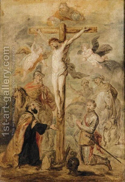 The Crucifixion 4 by (after) Dyck, Sir Anthony van - Reproduction Oil Painting