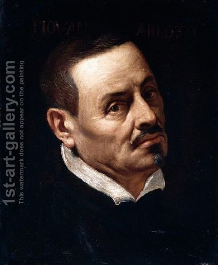 Portrait Of A Gentleman, Head And Shoulders, Said To Be Arlotto Mainardi Called Piovano Arlotto (1396-1484) by Baldassarre Franceschini - Reproduction Oil Painting