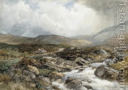 Highland Scenes by David Bates - Reproduction Oil Painting