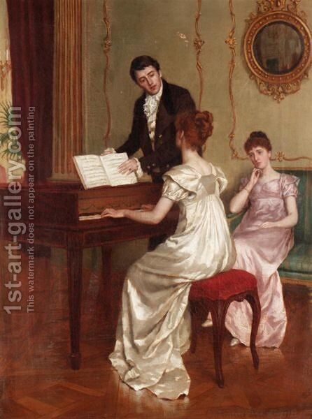 The Song by Charles Haigh-Wood - Reproduction Oil Painting
