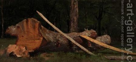 Tree Study by (after) Adolph Von Menzel - Reproduction Oil Painting