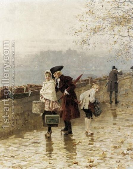 The Pick Pocket by Charles Edouard Edmond Delort - Reproduction Oil Painting