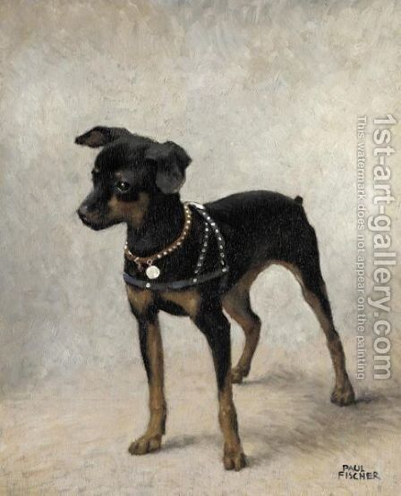 Portrait Of A Puppy by (after) Paul-Gustave Fischer - Reproduction Oil Painting