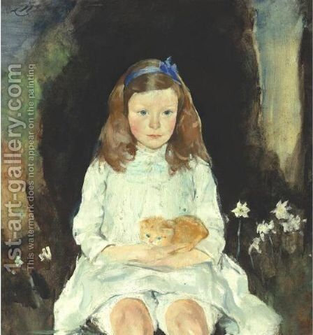 Little Dora by Charles Webster Hawthorne - Reproduction Oil Painting